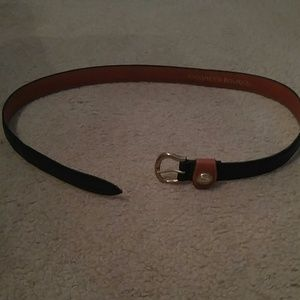 Dooney & Bourke Black Brown Leather Belt 30-32